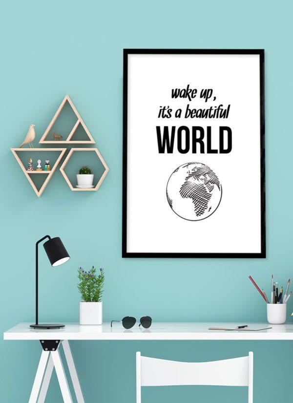beautiful-world-poster-Schreibtisch