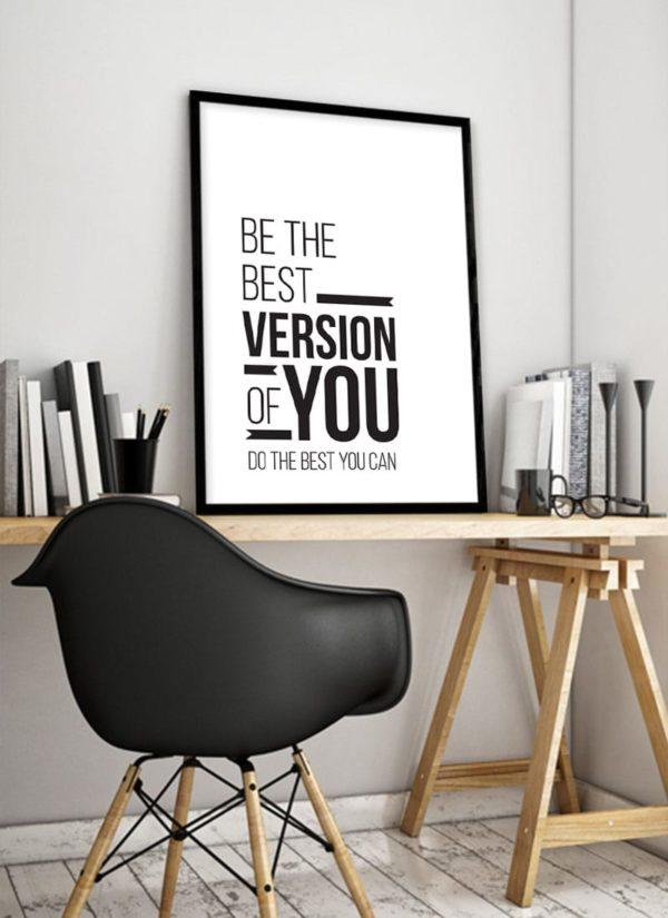 best-version-poster-Schreibtisch