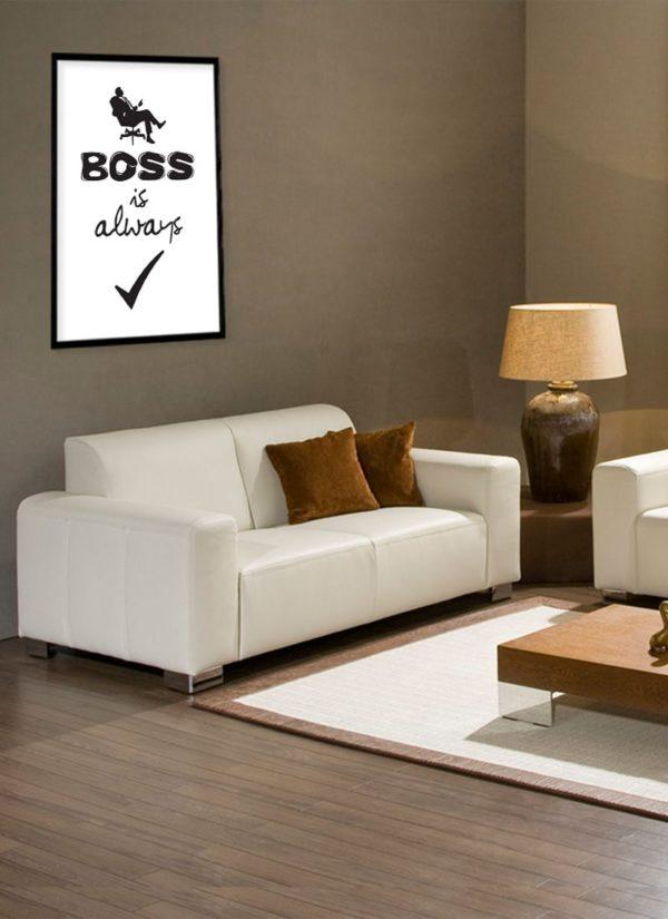 boss-is-always-poster-design-Schreibtisch