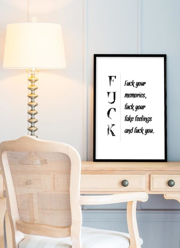 fuck-memories-poster-Schreibtisch