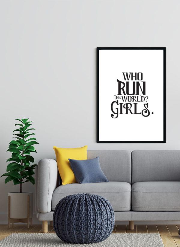 girls-tun-the-world-Poster-Wohnzimmer