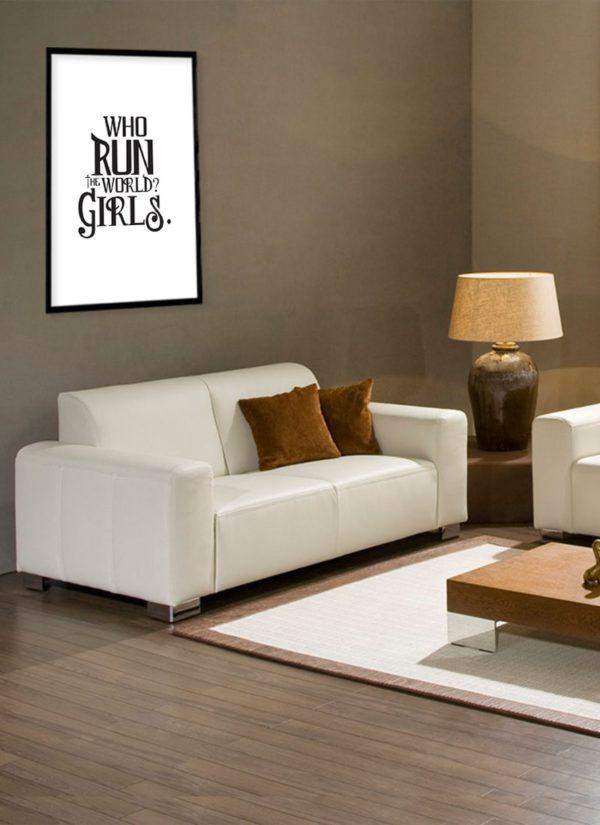 girls-tun-the-world-Poster-design-Wohnzimmer