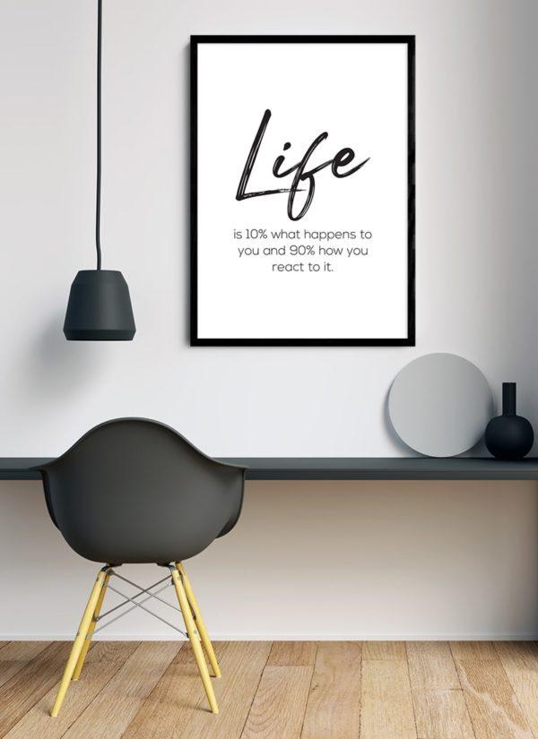 life-is-poster-Schreibtisch