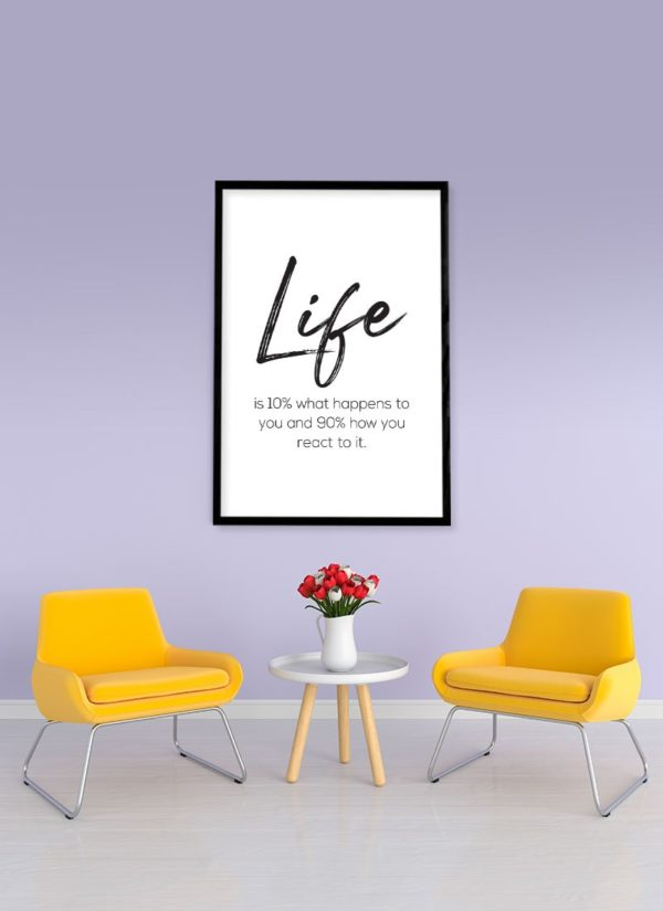 life-is-poster-Wohnzimmer