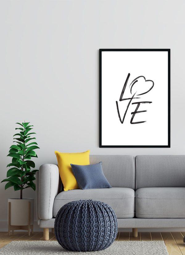love-poster-Wohnzimmer