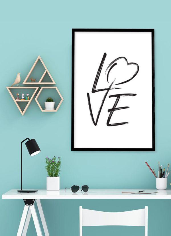love-poster-arbeits-Schreibtisch