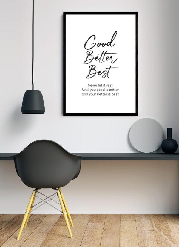 never-rest-poster-Schreibtisch