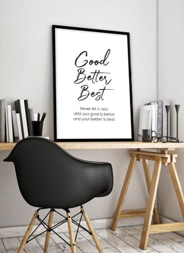never-rest-poster-design-Schreibtisch
