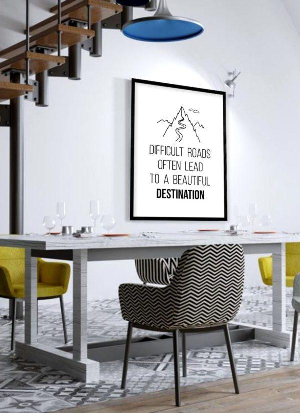 roads-lead-poster-Esszimmer