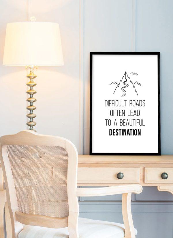 roads-lead-poster-Schreibtisch