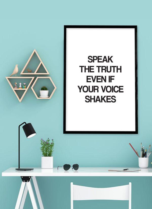 speak-the-truth-poster-design-Schreibtisch