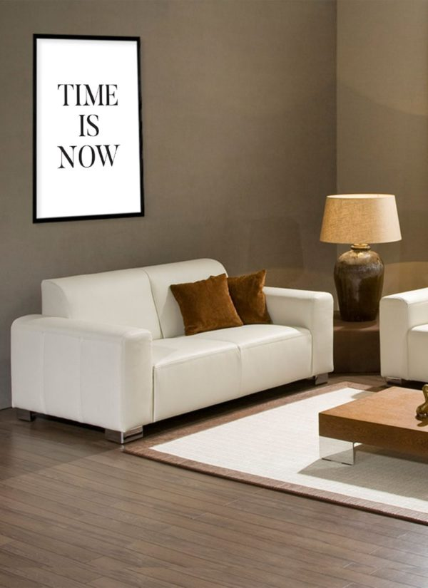 time-is-now-poster-Wohnzimmer